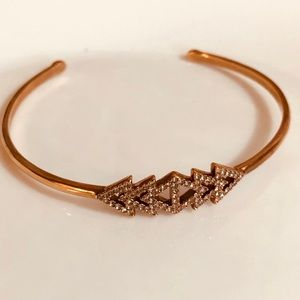 Stella & Dot Rose Gold Triangle Cuff Bracelet